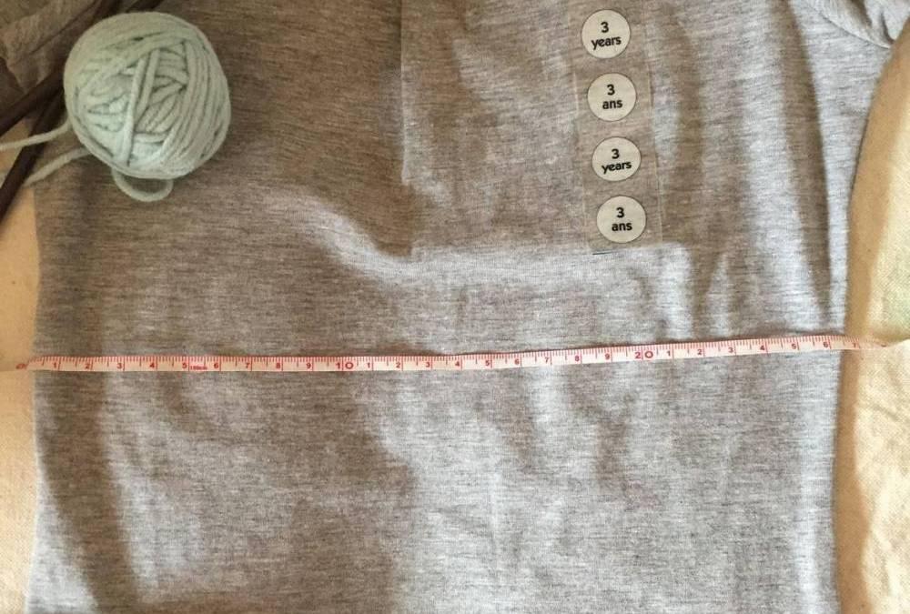 Adaptar talla patrones de punto primero medir