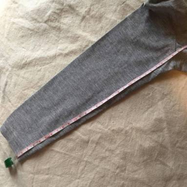 Adaptar talla patrones de punto mangas 2