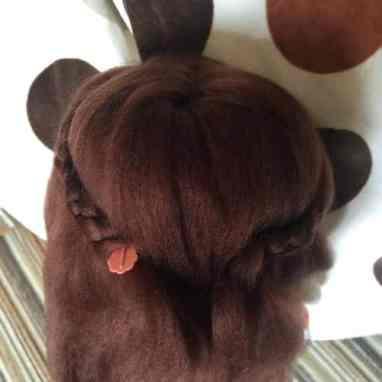 Amigurumi crochet Cabeza detras