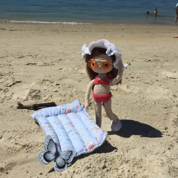 Amigurumi crochet En la arena