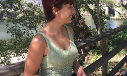 DiY ideas, Top verde de punto Lunnis con técnica grafting