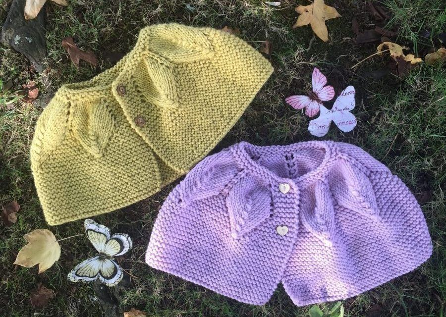 Leaves cape – Knitting Baby Pattern