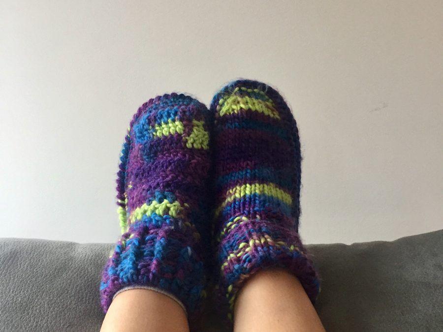 Zapatillas Reims a tricot y crochet