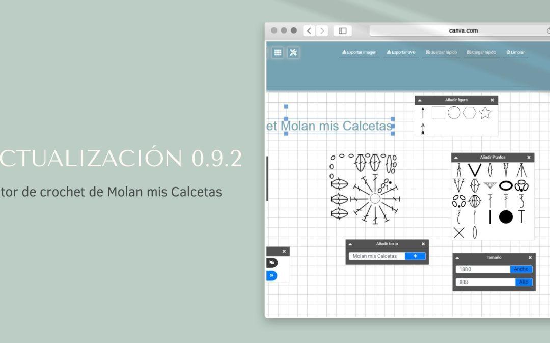 Actualización 0.9.2 editor de crochet