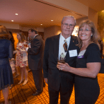 Women's Justice Award honoree Cindy Dillard Parres  and her father,  attorney Howard Dillard. Parres was recognized in the Enterprise category for her work as  general counsel for Houlihan's Restaurant.