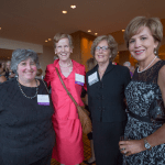 Women's Justice Award honorees Sherrill Rosen, Alice Conway and Mary Russell gather with former honoree Ann Covington.