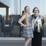 2015 WJA Legal Scholar honoree Nancy Allen stands with her daughter Martha, 19,  at the Four Seasons Hotel in St. Louis for the 17th annual awards ceremony.