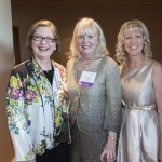 Springfield honorees Nancy Allen [Legal Scholar], Virginia Fry [Woman of the Year] and Teresa Hensley [Public Service Practitioner] stand together at the reception in their honor.