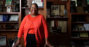 091316.DanaTippinCutler.CPS  Dana Tippin Cutler is about to become the first female African-American president of The Missouri Bar Association. She is a partner at her family's law firm, James W. Tippin & Associates in Kansas City. (Photo by Christopher Smith)