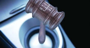 Six speed gear stick in a brand new sport car gavel