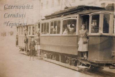 Про Чернівці в старих фото. Трамвай.