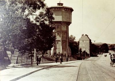 Про Чернівці в старих фото. Водонапірна вежа.