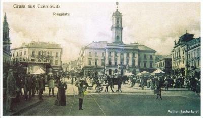 ЗМІ показали, як змінився центр Чернівців за 115 років (ФОТО)