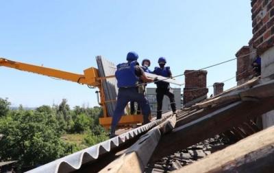 На Донбасі за час бойових дій пошкодили тисячі будинків ...