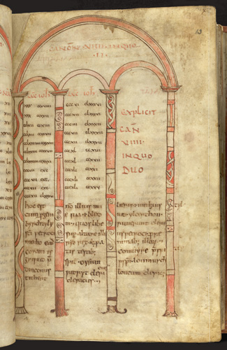St Petroc or Bodmin Gospels, London, British Library Additional MS 9381, fo. 13r.