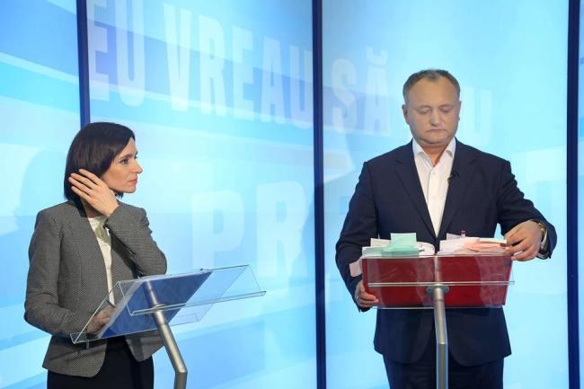 Igor Dodon și Maia Sandu, la dezbateri electorale în platoul PRO TV FOTO profilul de Facebook al liderului PSRM