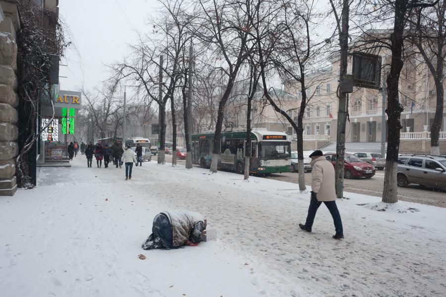 Centrul Chișinăului, bd. Ștefan cel Mare FOTO: Sandu Tarlev