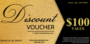 $100 Discount Voucher on All Molecular Depot Products