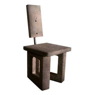 Concrete Block Chair