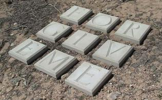 Untitled, Square Thoughts, concrete blocks to be used for landscaping