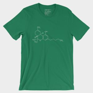 THC Molecule T-Shirt Kelly