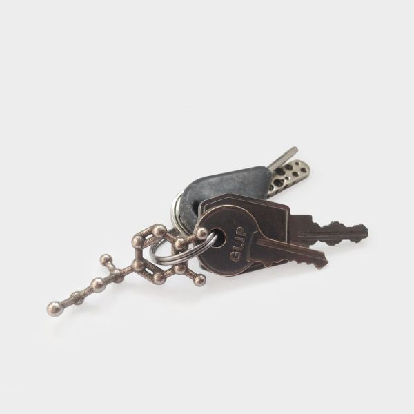 Adrenaline Molecule Keychain 3D