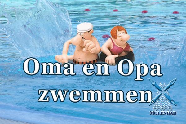 Oma, Opa kleinkind zwemmen