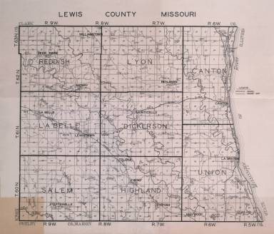 1930 Map of Lewis County Missouri