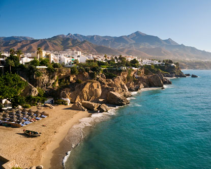 Beach in Nerja, Spain