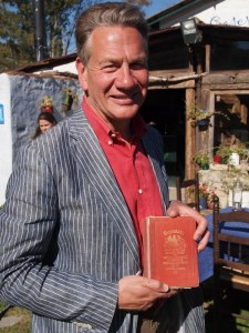 Michael Portillo pictured during filming in sunny Andalucia