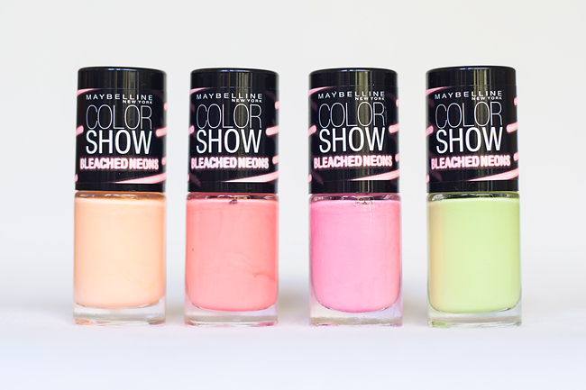 Maybelline The Summer Heat Wave Collection molkan skönhetsblogg color show bleached neons