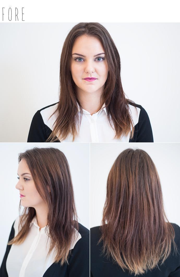 eleven store molkan hair makeover karlbergsvägen eleven.se frisör stockholm fredrik före efter lila hår purple ombre