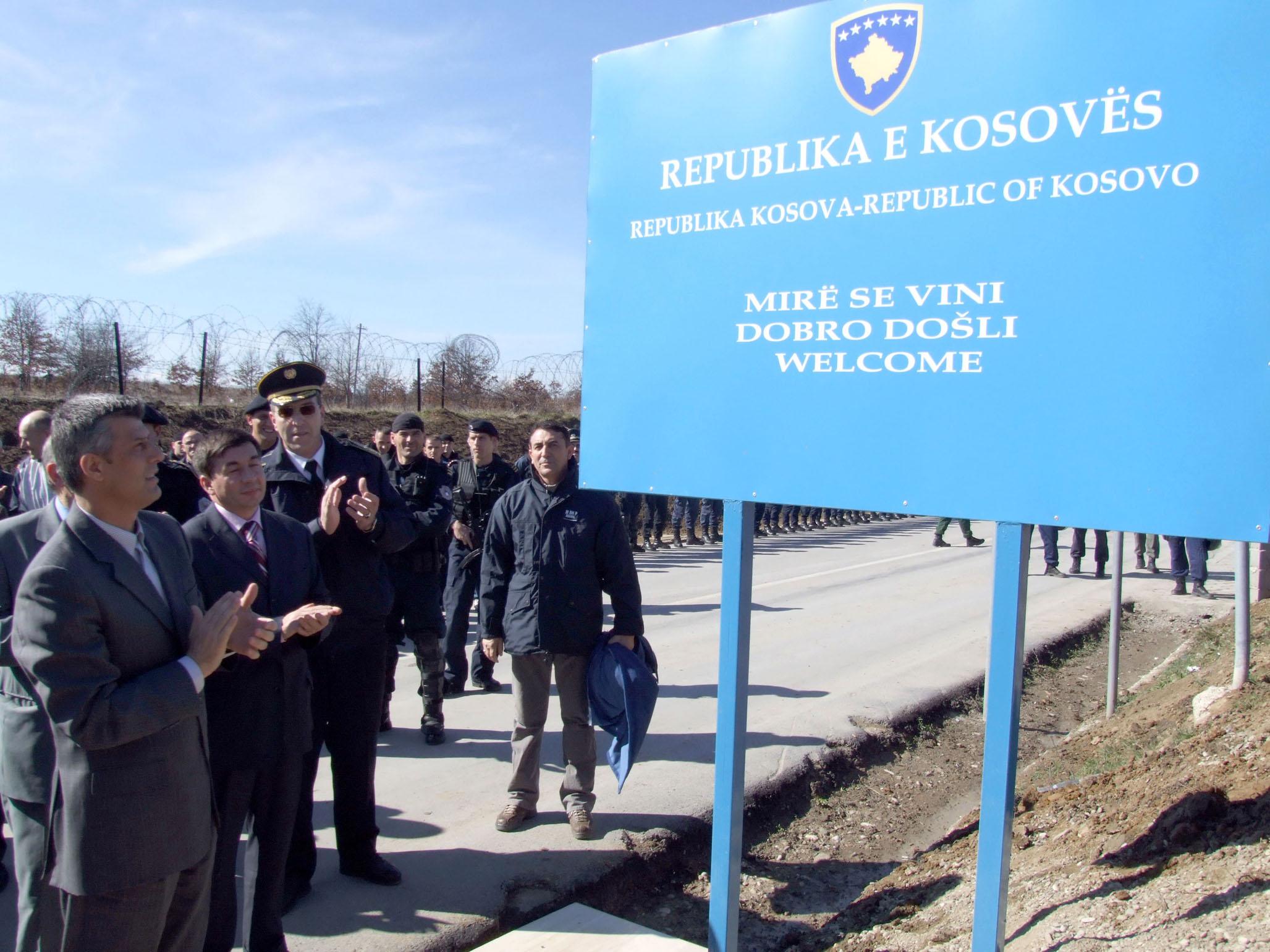 Pllaka në pikën kufitare me Serbinë,Merdare
