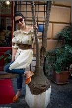 camicia Callaghn, jeans Mauro Grifoni, cintura e-Play, occhiali Ungaro