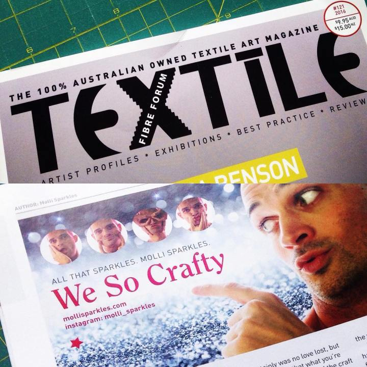Have you got the latest issue of Australian #magazine #textilefibreforum yet? Flip to the back page to see my article about leaving the world a craftier place than we found it!