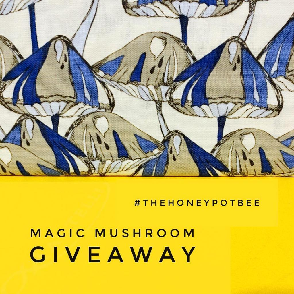 thehoneypotbee Lets give some mushroom fabric away! Make a mushroomhellip
