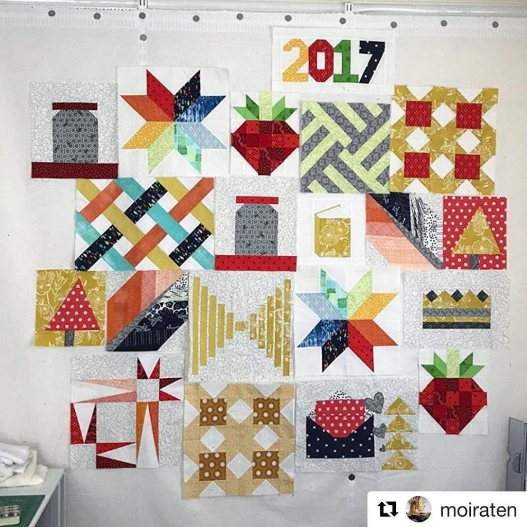 Look at all these amazing quiltblocks moiraten has been makinghellip
