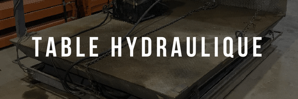 Table hydraulique