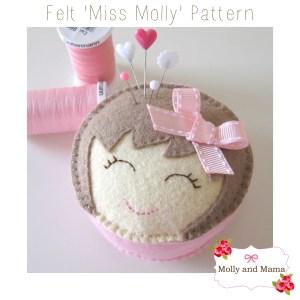 Miss Molly Pin Cushion Pattern by Molly and Mama