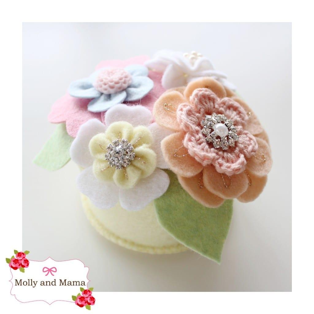 Spring Posy Pin Cushion by Molly and Mama
