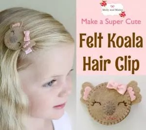 Make a Felt Koala Hair Clip - a Molly and Mama tutorial