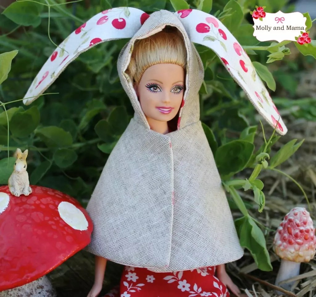 Barbie's bunny cape by Molly and Mama