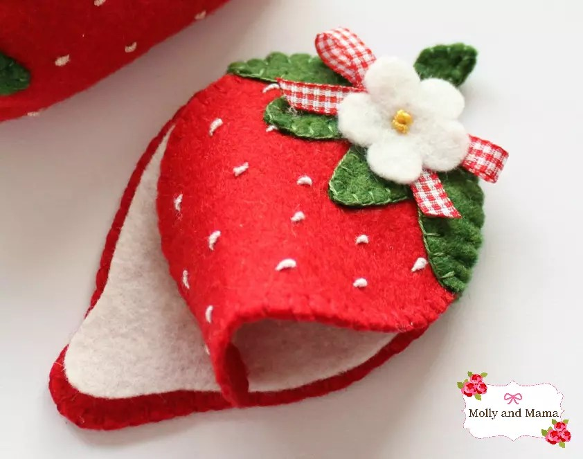 Strawberry needle book by Molly and Mama