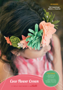 Coco Flower Crown by Molly and Mama