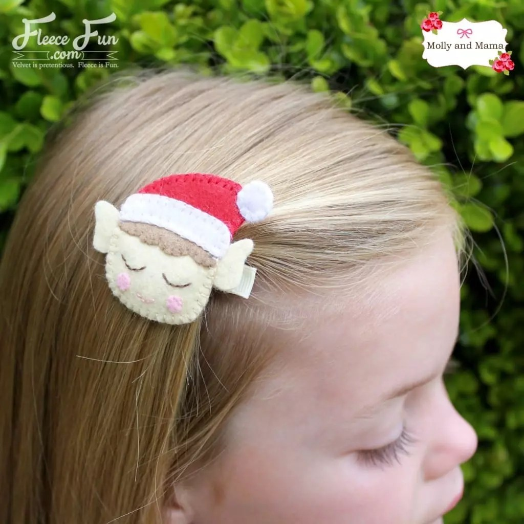 Felt Elf Hair Clip tutorial by Molly and Mama for Fleece Fun