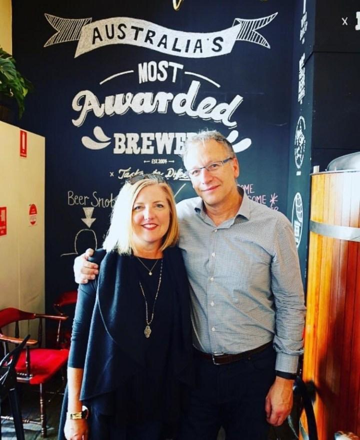 photo with her Australian boss