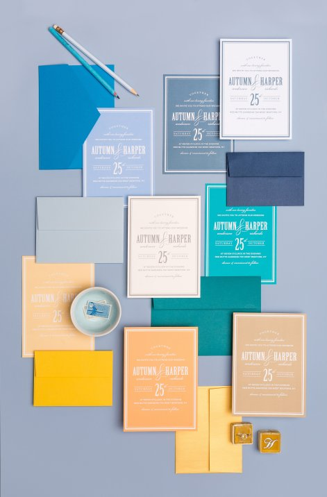 photo of Basic Invite's colorful envelopes to create invitations