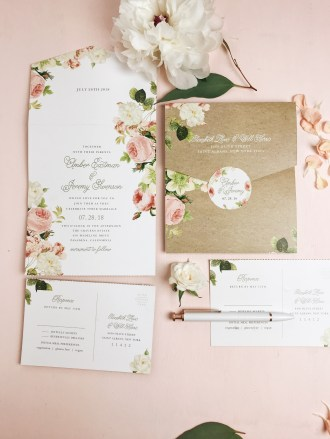 photo of Basic Invite's Seal and Send wedding invitation