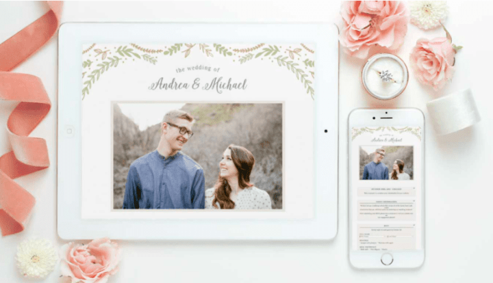 photo of Basic Invite wedding website