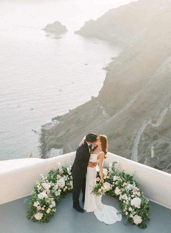 Santorini Film Photographer | Martha Stewart Weddings ...